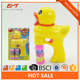 Lovely cartoon duck soap bubble gun toys for kids