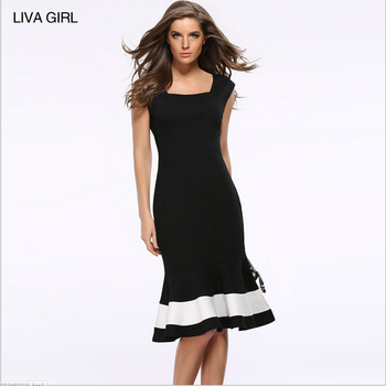 High Quality 2017 New Fashion Office Wear Las Y Dress Bodycon Mermaid Plus Size Women Dresses