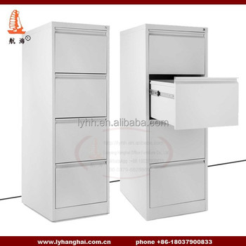Light Grey Office Decorative Vertical Commercial Grade 4 Drawer Wood Filing Cabinets