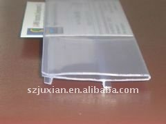 Clear PVC extruded Data Strip Label Holder