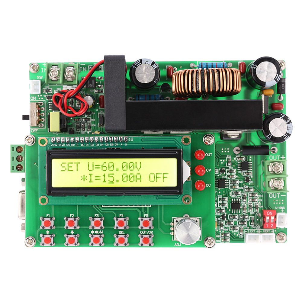 Digital DC-DC Converter Adjustable Step-down Module Power Supply 900W Programmable CC CV LCD Display TTL 15-80V to 0-60V 15A