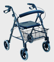 2015 hot sale aluminum frame rollator/walkers with wheels for sale with CE certificate