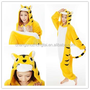 552b2533704b 2017 Hot Sale Winter Women Yellow Tiger Onesie Pajamas Adult Onesie ...