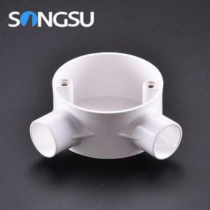 Produce and wholesale Waterproof pvc europe emt conduit round plastics junction boxes