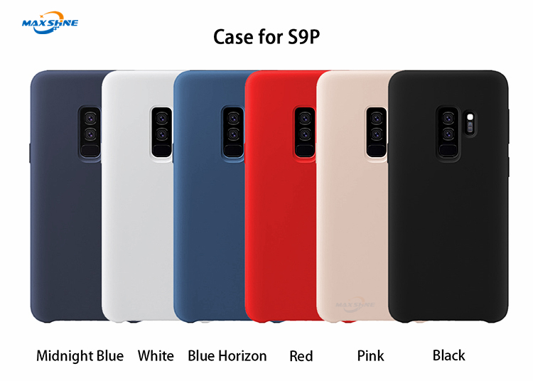 Maxshine Custom Shockproof Phone Case For S8 S10 , Liquid Silicone Rubber Case For Samsung Galaxy S9 Plus Case Mobile Phone