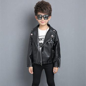 34af50a60 Custom Warm Cotton Kids Leather Jacket Children Boys Winter Jacket ...