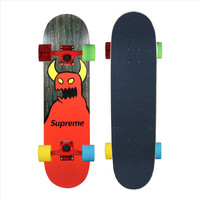 OEM Logo printed Professional Mini maple longboard Skateboard