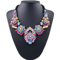 2019 fashion Bohemian choker women Crystal Jewelry statement necklace