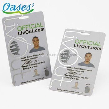 Print Pvc Employee Id Card With Photo Template Images