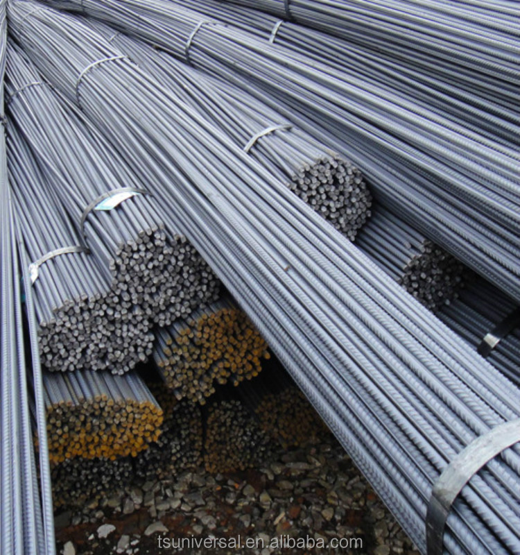 Steel rebar, deformed steel bar, iron rods for construction and concrete with prime quality rebar