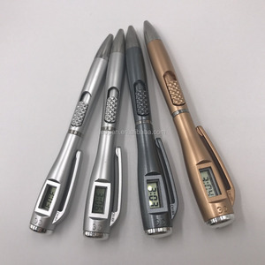 hot selling promotional advertising electronic watch ball pen