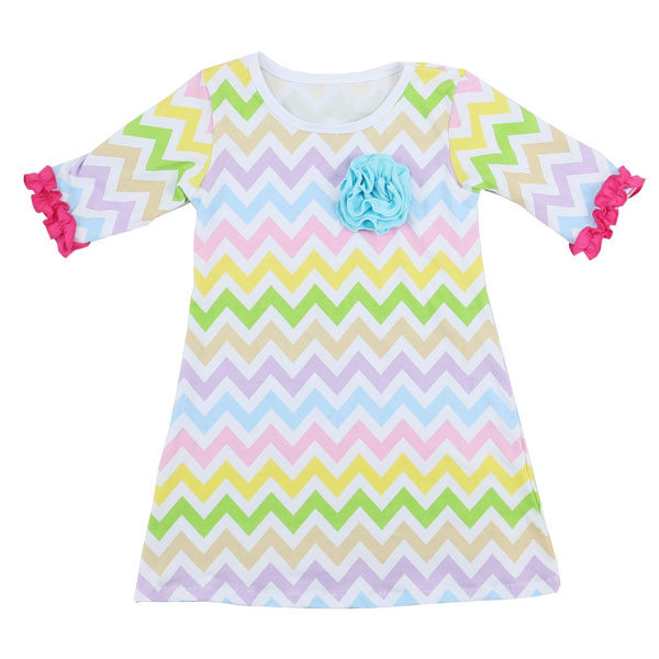 Wholesale holiday time products for 6 year old girl boutique chevron clothing easter egg dress kids layers ruffle lace dresses