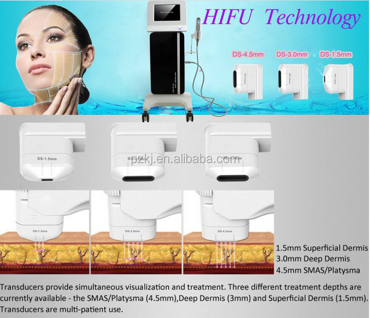 Neues Design Korea High Intensity Focused Ultraschall Hifu Skin Rejuvenation Machine