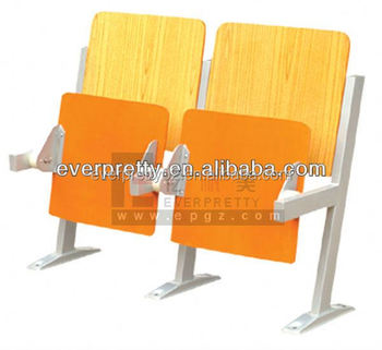 Fodable Modern School Desk And Chair Folding Student Hall Double Seat