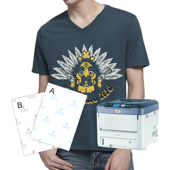 Yesion no cut transfer paper used for oki c711wt laser for T shirt laser printing