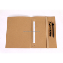 Fabriek prijs vintage custom bestand pocket kraftpapier/kraftpapier document map tas met pen houder/Duurzaam business <span class=keywords><strong>portfolio</strong></span>