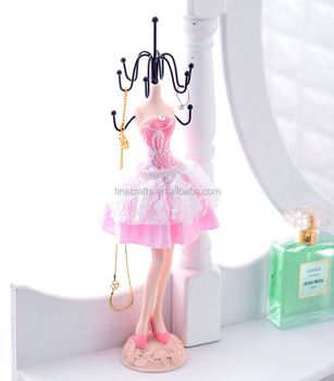 Pink Customizable Mini Female Mannequin Dress Form For Jewelry