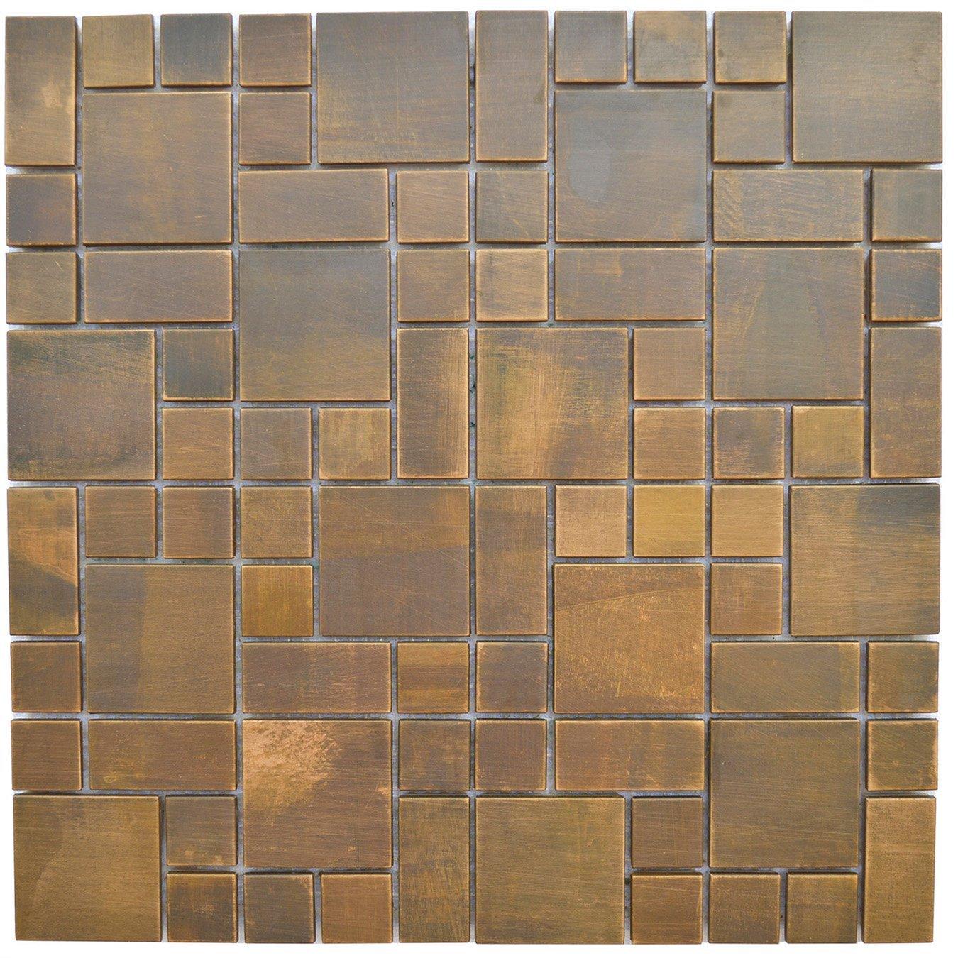 Get Quotations Copper Bath And Kitchen Backsplash Fireplace Surround Wall Decor Tile Eden Mosaic