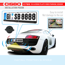 EU Car License Plate 3in 1 Parking Sensors with Reverse IR Camera