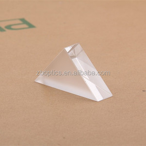 OEM transparent optical glass triangular prism for sale