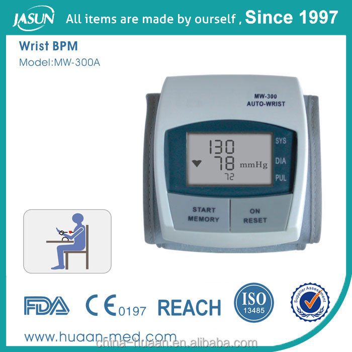 OEM quality Wrist electronic blood pressure measuring instruments