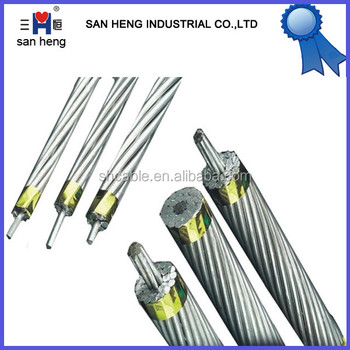aluminium conductor steel reinforced acsr factory price bare overhead cable wire aerial cable