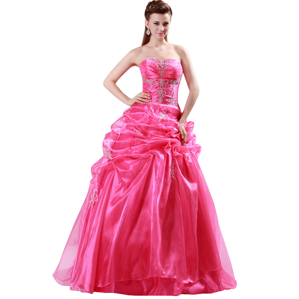 8fd83b0137f Get Quotations · 2015 Fast Delivery GraceKarin Rose Red Ball Gown  Quinceanera Dresses Sweet 15 16 Dress debutante gown