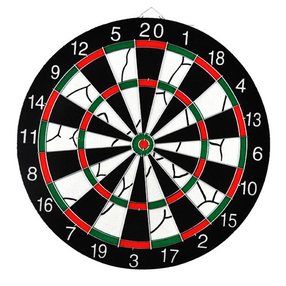 Baring Double-sided Steel Tip Dart Board Set, Professional Home Dartboard Kit Game Flocking Dart Board Bristle Dartboards with 6 Brass Darts