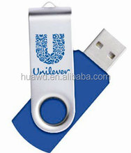 Teacher gifts wholesale Cheapest promotion memory hotselling swivel usb flash drive with customized logo