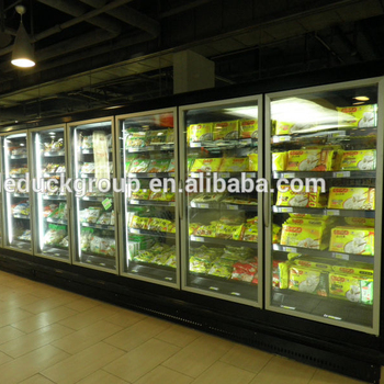 Glass door supermarket freezer/display showcase
