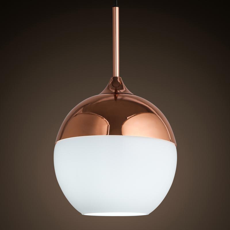 Personalidad creativa moderna lámpara con pantalla de vidrio de ...