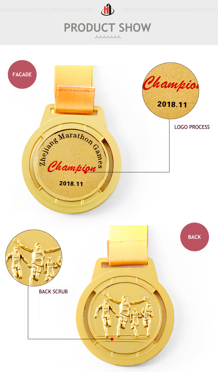 Custom hot sale cheap souvenir metal sports awards running marathon medal dealers