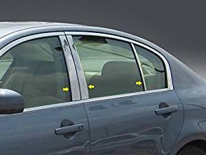 2007-2013 Infiniti G Sedan 6pc. Luxury FX Chrome Pillar Post Trim