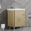 Hot Sale Modern Bathroom Cabinet Design Stainless Steel Cabinet And Basin Ceramic