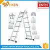 2.6M/3.6M/4.7M ladder price, super cable ladder with EN131-1/-2/-3/-4 GS approval, jacobs ladder piercing