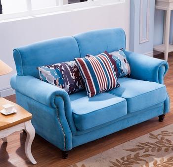 Blue Velvet Sofa Set Designs And Prices LS 009A