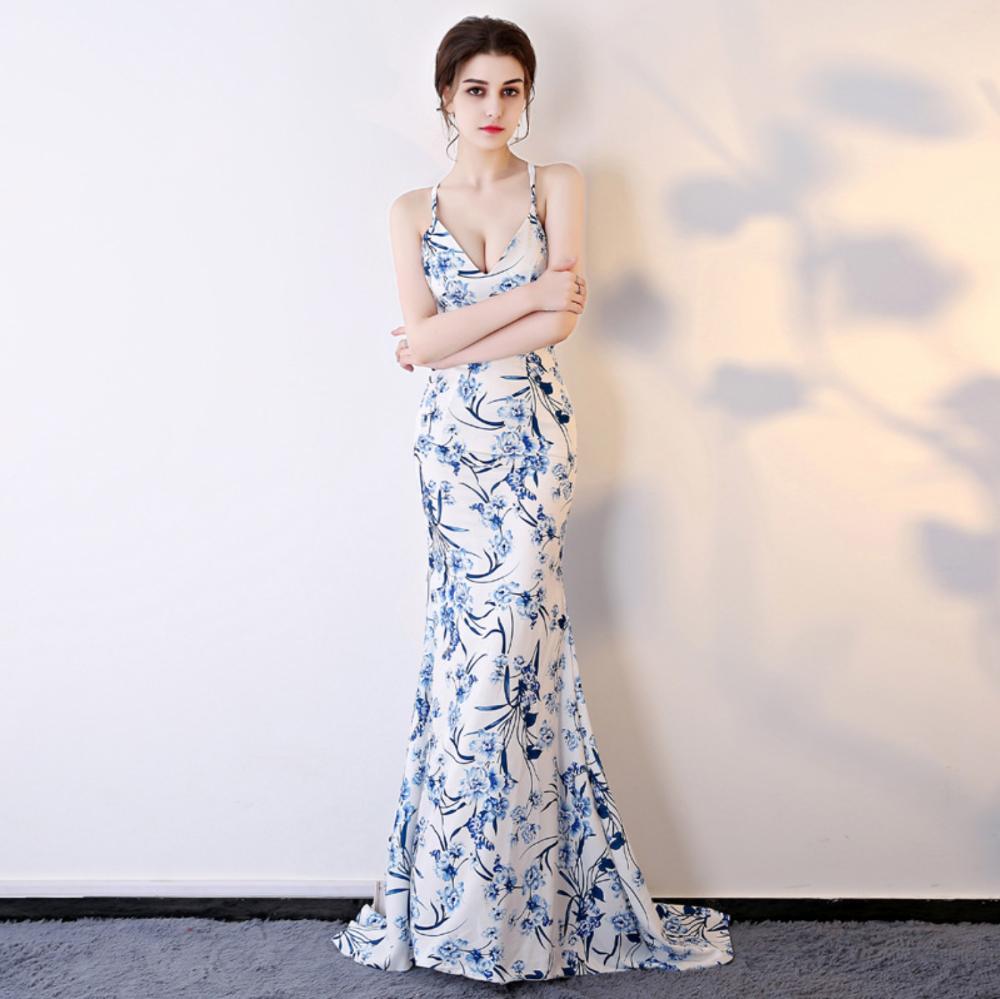 promo code c52e6 7b058 abiti da sera blu e bianchi all'ingrosso-Acquista online i ...