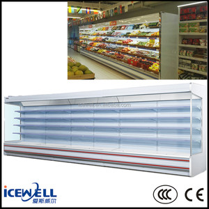 Supermarket display counter commercial refrigerator for fruits and vegetables
