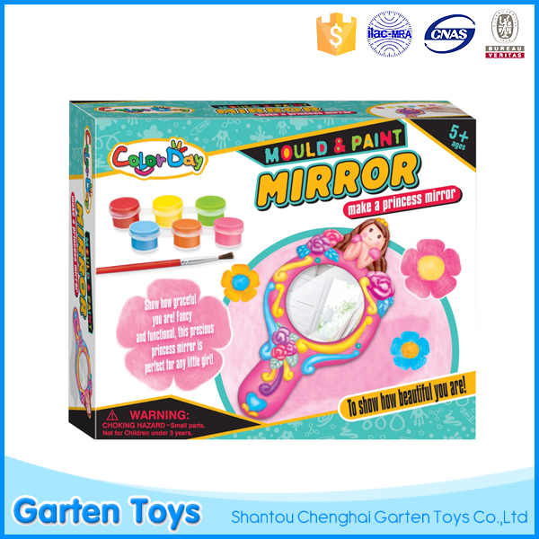 Intelligent diy toy colorful painting mirror gypsum toys