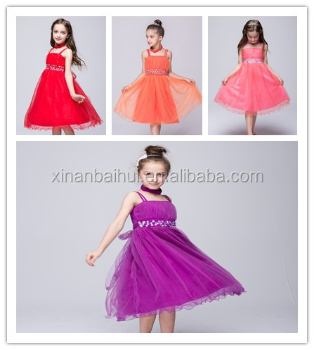 Korean style flower girl weeding dress for 10 years children princess trailing dress party girl Chiffon dress