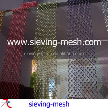 Metal Coil Drapery Aluminum Wire Mesh Shower Curtains