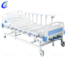 Hospital Furniture Folding Metal 3 crank Manual Hospital Bed