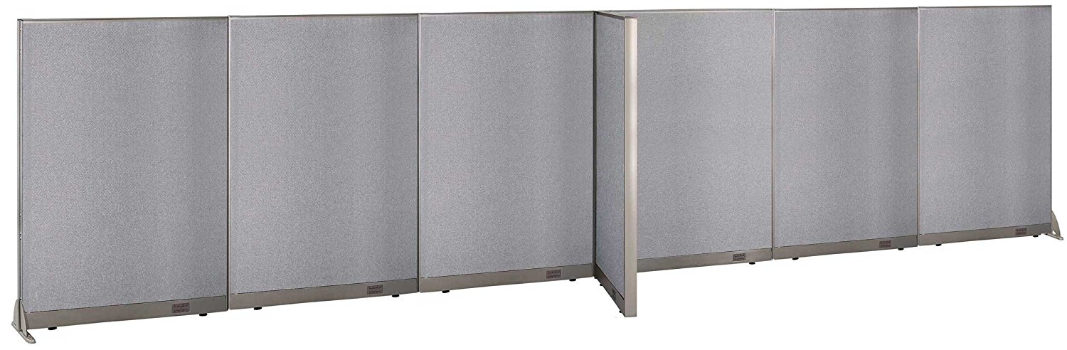 "GOF T-Shaped Freestanding Partition 30""D x 288""W x 72""H / Office, Room Divider 24' x 2.5' (30""D x 288""W x 72""H)"