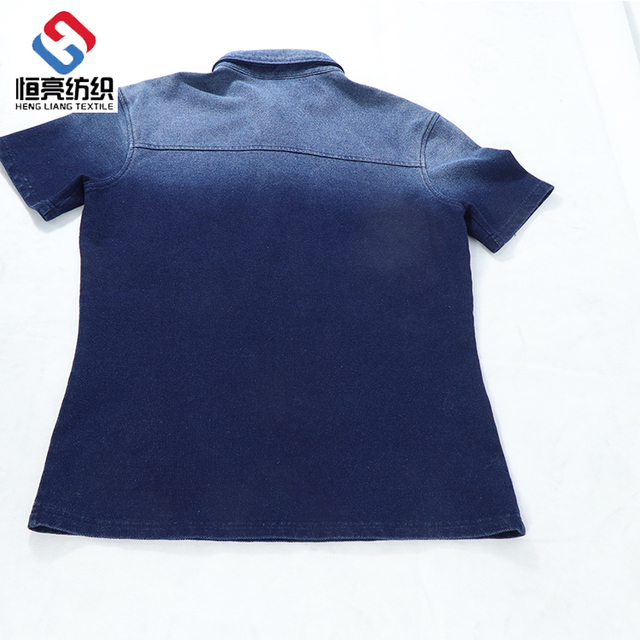 Hot selling gradual color short sleeve high stretch t-shirt
