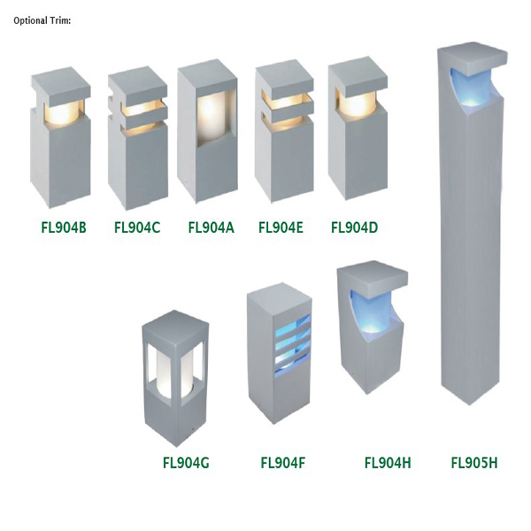 3W New Modern IP65 Solar Power Garden Decorative Light Led Garden Light  Garden Bollard Light