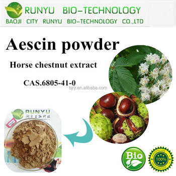 CAS No.6805-41-0 Natural Pure Organic Herbal Extract Aescin horse chestnut extract 20%,98%