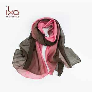 Wholesale High Quality Silk and Modal Dip Dye Latest Design Custom Gift Cheap Lady Scarf Shawl