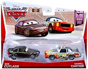 Disney/Pixar Cars, 2013 RSN, Bob Cutlass and Darrell Cartrip Die-Cast Vehicles