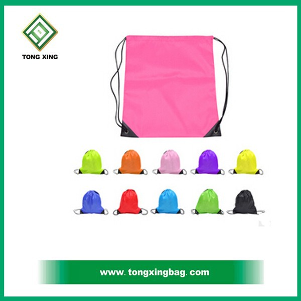 Best Selling Promotional Small 210t Polyester Waterproof Drawstring Bag