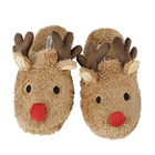 Winter Soft Cozy Home Booties Non-Slip Baby Christmas Plush Slipper Shoes